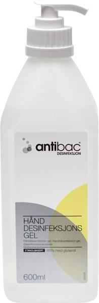 Bilde av Hånddesinfeksjon Antibac 85% gel m/pumpe 600ml